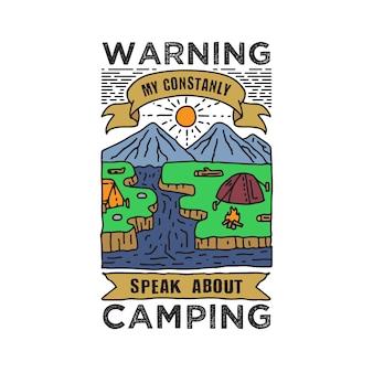Advertencia mi habla constantemente sobre acampar