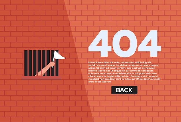 Advertencia de red de internet 404 página de error o archivo no encontrado para la página web