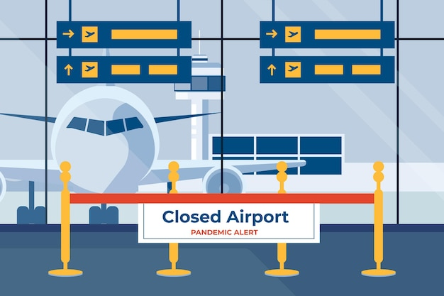 Aeropuerto cerrado y reprogramación de las vacaciones.