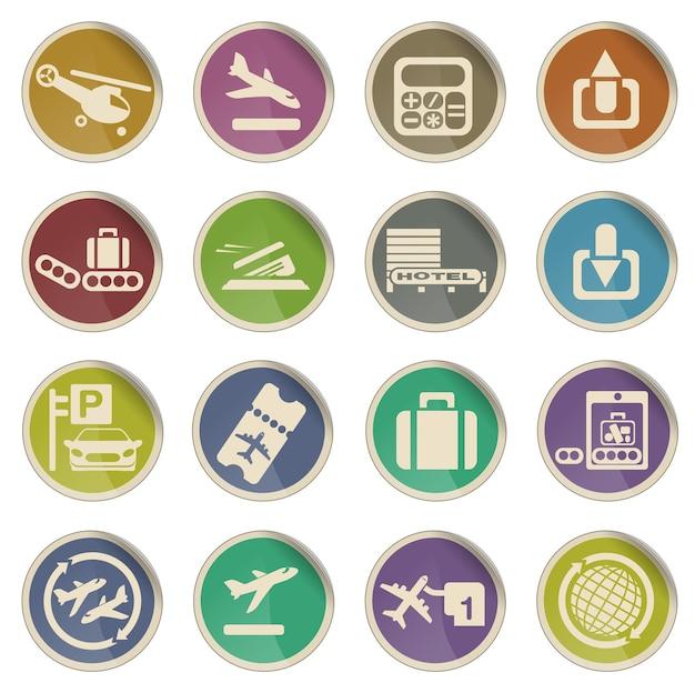 Aeropuerto simplemente símbolo de iconos web