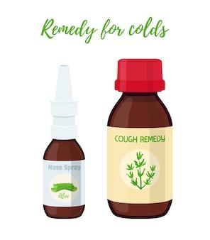 Aerosol nasal, remedio para la tos. medicina, farmacia