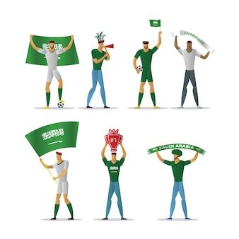Aficionados al fútbol de arabia