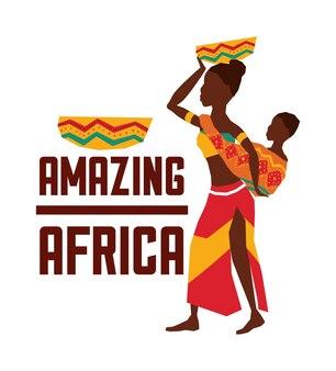 África representada por su diseño de mujer