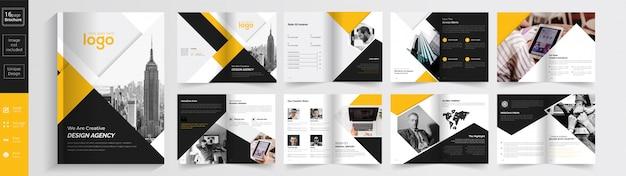 Agencia creativa de color amarillo y negro.