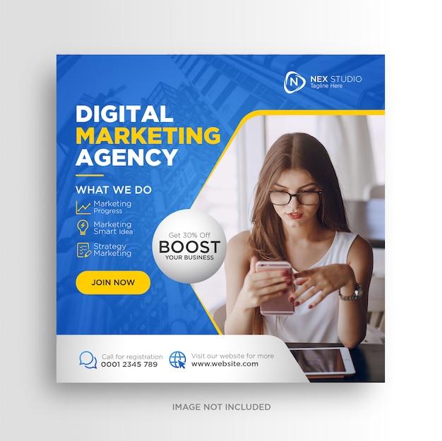 Agencia de marketing digital anuncios de banner de publicación de redes sociales