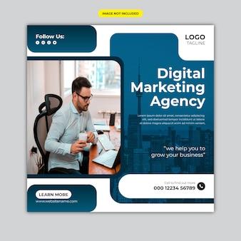 Agencia de marketing digital y banner corporativo o publicaciones en redes sociales.