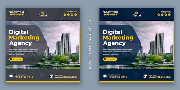 Agencia de marketing digital y folleto de negocios corporativos.