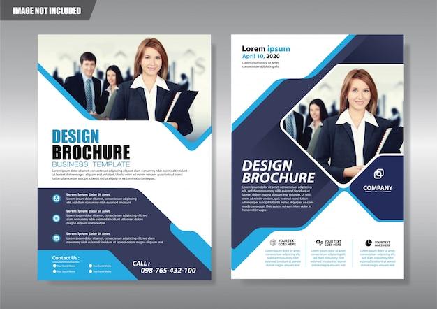 Agencia de servicios flyer con forma geométrica.