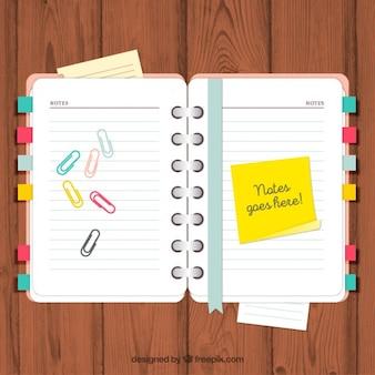 Agenda con notas y clips