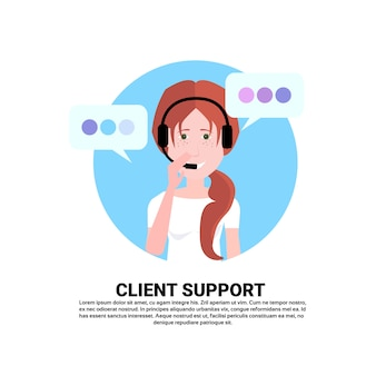 Agente de auriculares del centro de llamadas