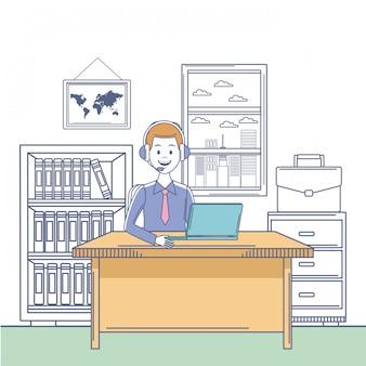 Call Center Trabajadoras Descargar Iconos Gratis
