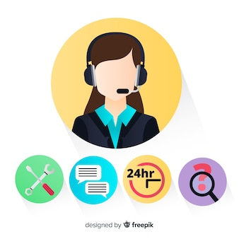 Agente femenino de call center