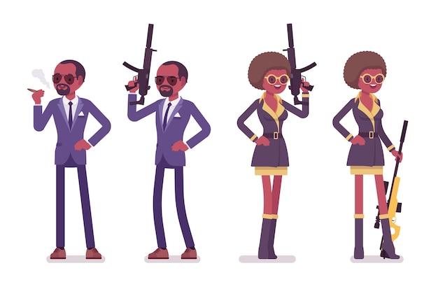 Agente secreto hombre y mujer
