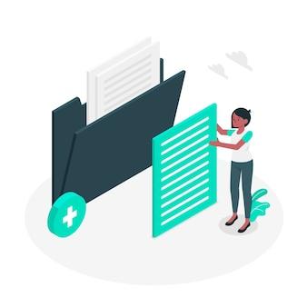 Agregar ilustración del concepto de archivos