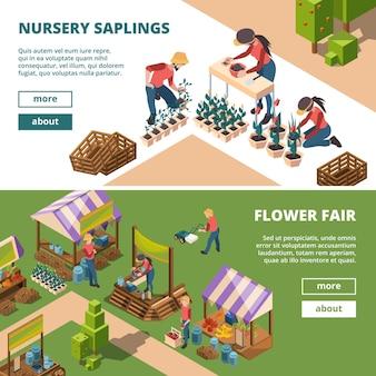 Agricultores y jardineros venta al aire libre de productos agrícolas, harina de leche y frutas, verduras