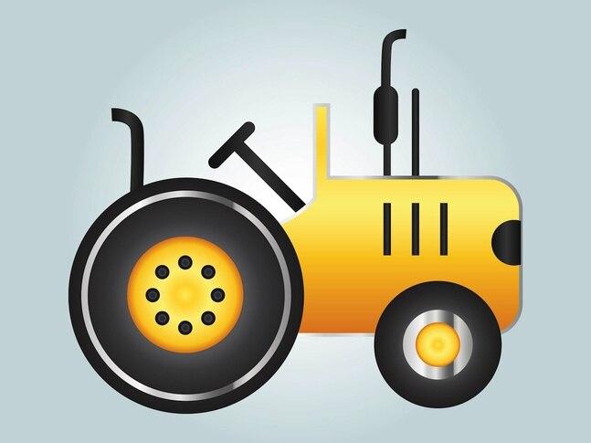 Agricultura tractor vehículo de gráficos vectoriales