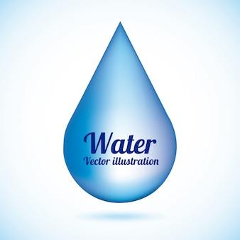 Agua natural sobre fondo azul ilustración vectorial