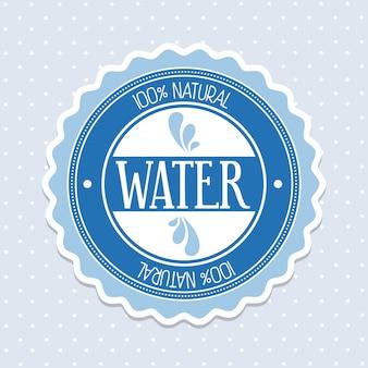 Agua natural sobre fondo punteado ilustración vectorial