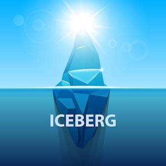 Bajo el agua del océano antártico iceberg.