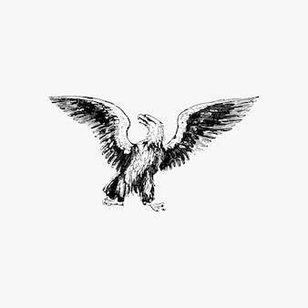 Águila con alas abiertas.