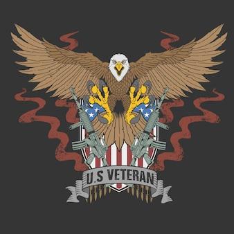 Águila americana veterana