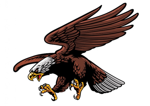 Águila atacando