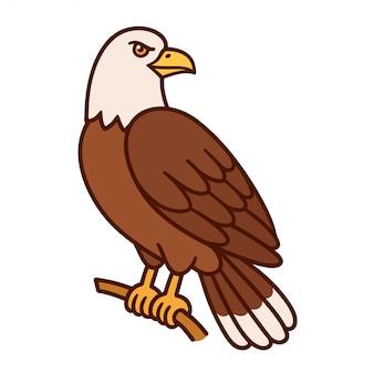 Águila calva de dibujos animados