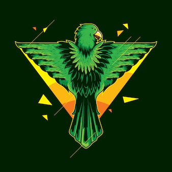 Águila como ángel fantasía ilustración