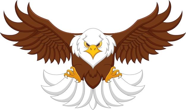 Águila de dibujos animados volando