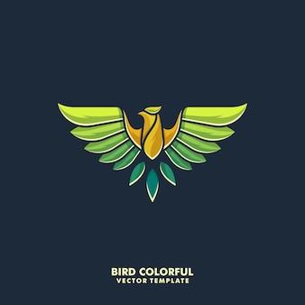 Águila diseño colorido ilustración vectorial plantilla