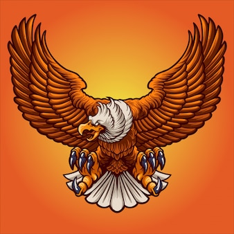 El águila enojada
