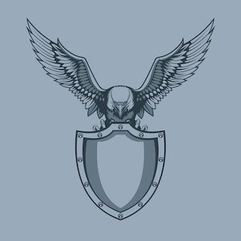 Águila con escudo en garras.