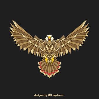 Águila geométrica abstracta