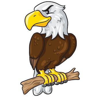 Águila linda de dibujos animados