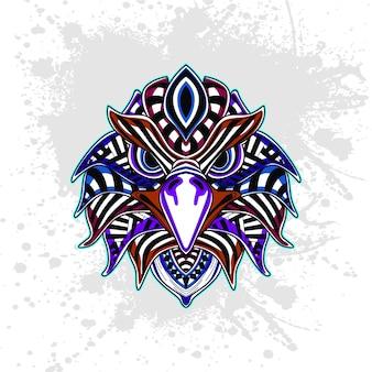 Águila de patrón decorativo abstracto