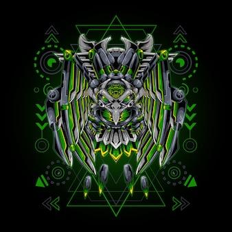 Águila robot geometría sagrada