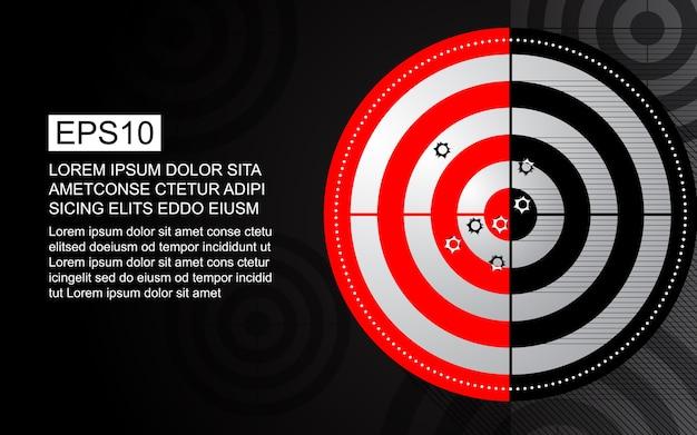 Agujero de bala del rango de tiro blanco abstracto