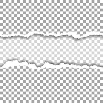 Agujero rasgado sin costura en papel