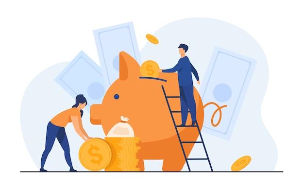 Ahorrar dinero concepto financiero