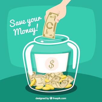 Ahorrar dinero ilustración