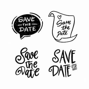 Ahorre la fecha con la colección de diseños lindos
