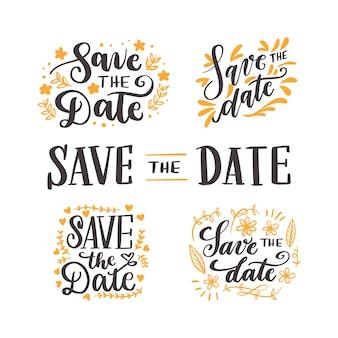 Ahorre la fecha colección de letras de boda