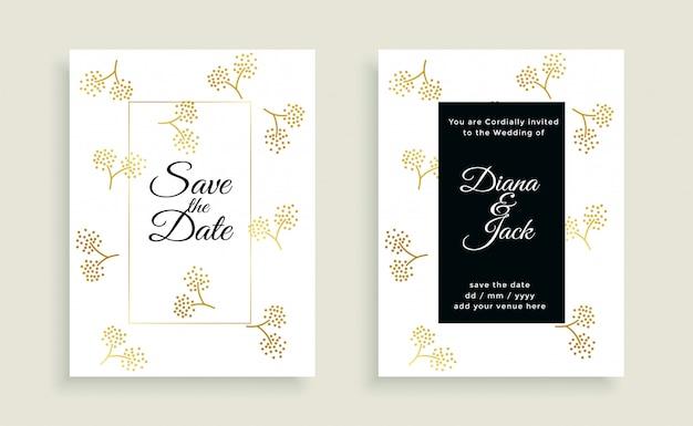Ahorre la fecha hermosa tarjeta de boda