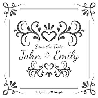 Ahorre la fecha de invitación de boda