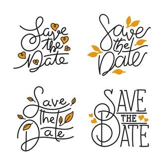 Ahorre la fecha paquete de letras de la boda