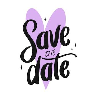 Ahorre la fecha tipografía de boda