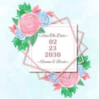 Ahorre la invitación floral de la boda de la fecha