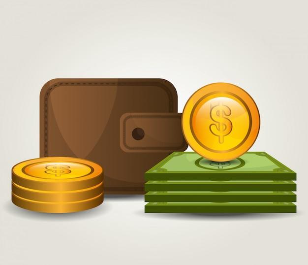 Ahorro de dinero y diseño de negocios.