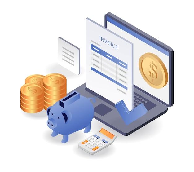 Ahorro de dinero para informes de facturas