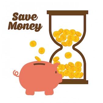 Ahorro de dinero y negocio.